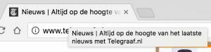 Title tag zichtbaar in browser tab