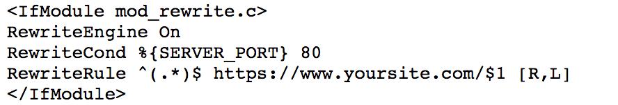 HTTPS instellen htaccess bestand